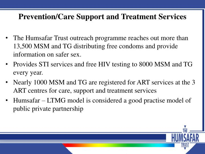 Prevention/Care Support and Treatment Services