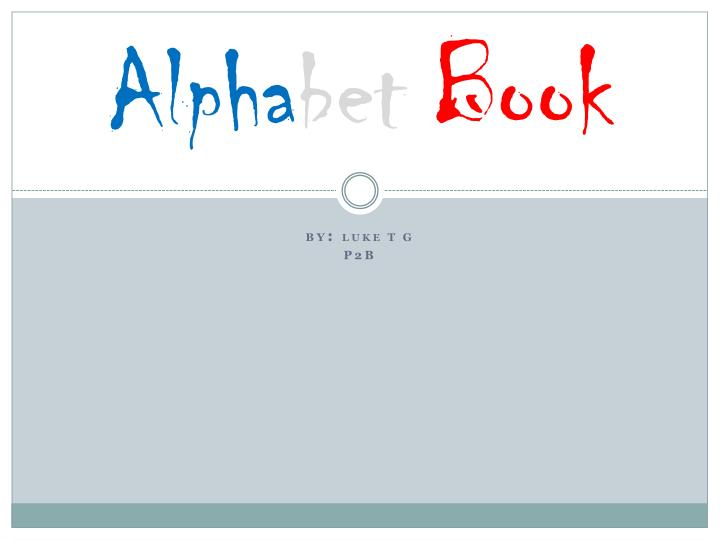 Alpha bet book