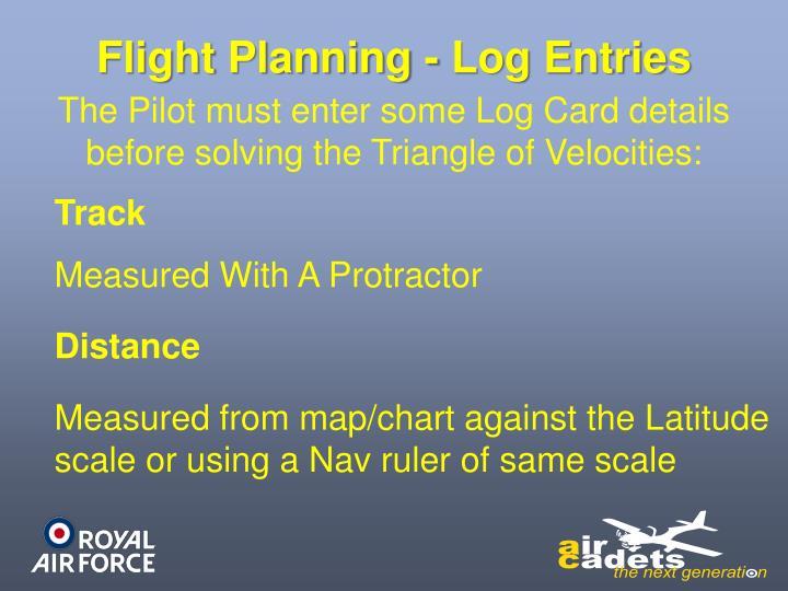 Flight Planning - Log Entries