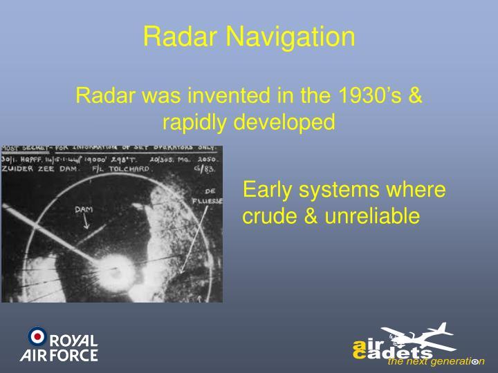 Radar Navigation
