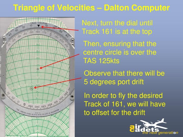 Triangle of Velocities – Dalton Computer