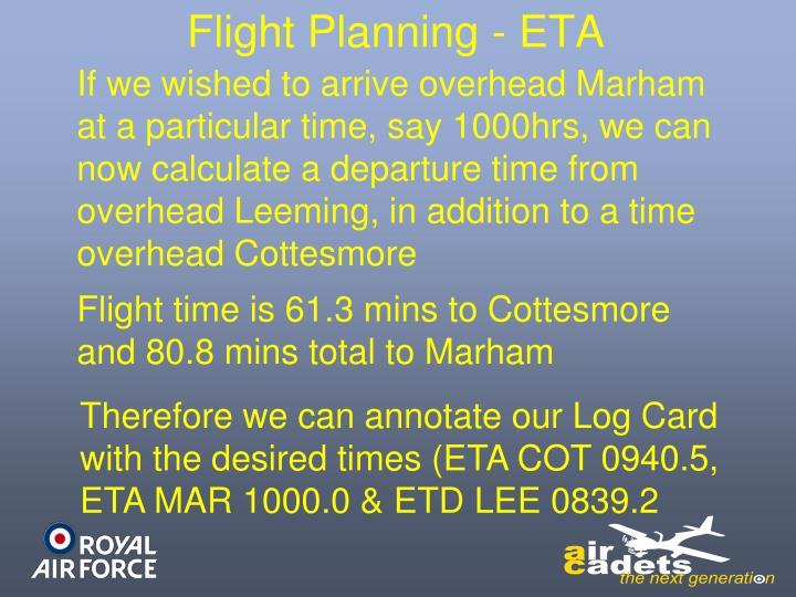 Flight Planning - ETA