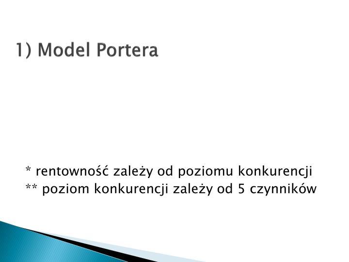 1) Model Portera
