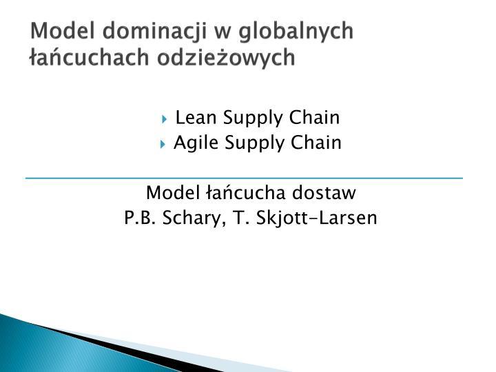 Model dominacji w globalnych łańcuchach odzieżowych