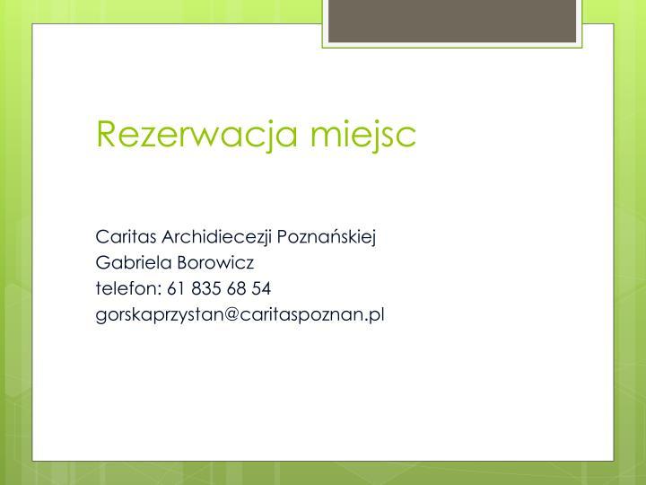 Rezerwacja miejsc