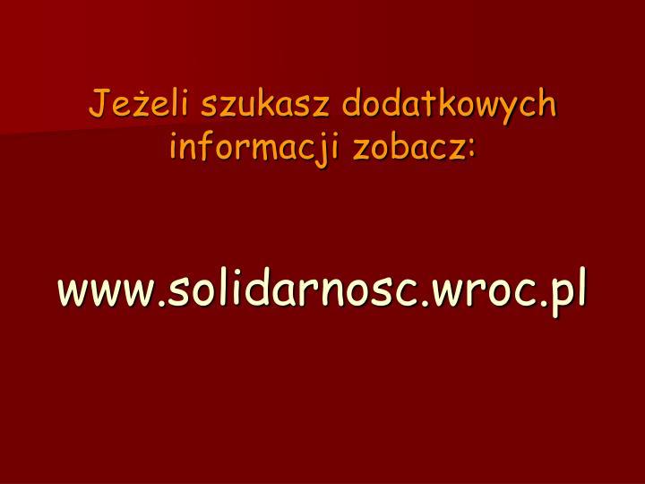 Jeżeli szukasz dodatkowych informacji zobacz: