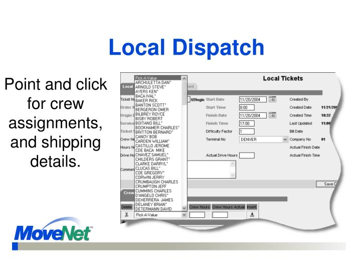 Local Dispatch