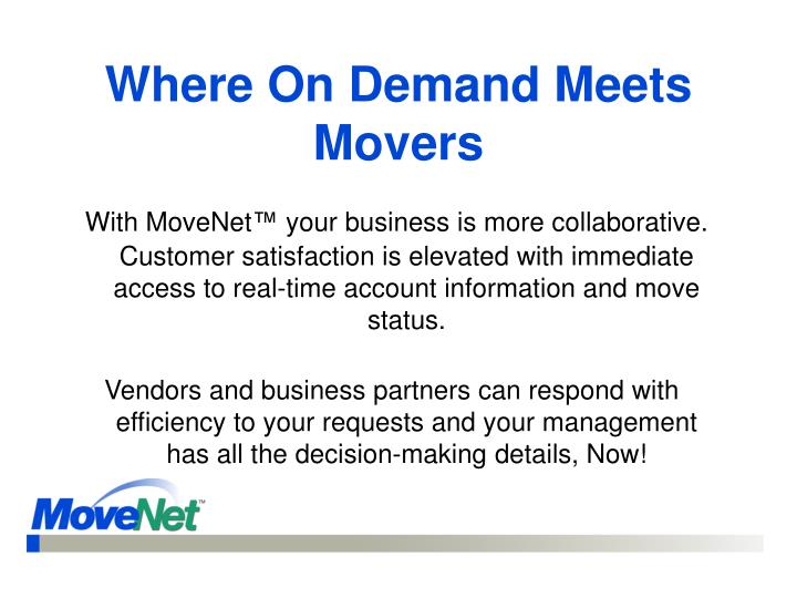 Where On Demand Meets Movers