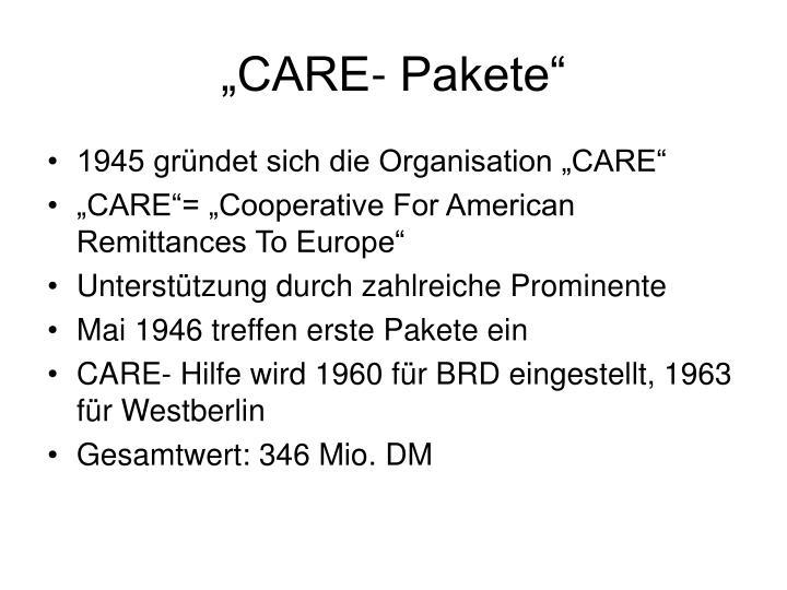 """""""CARE- Pakete"""""""
