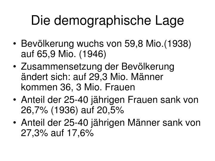 Die demographische Lage