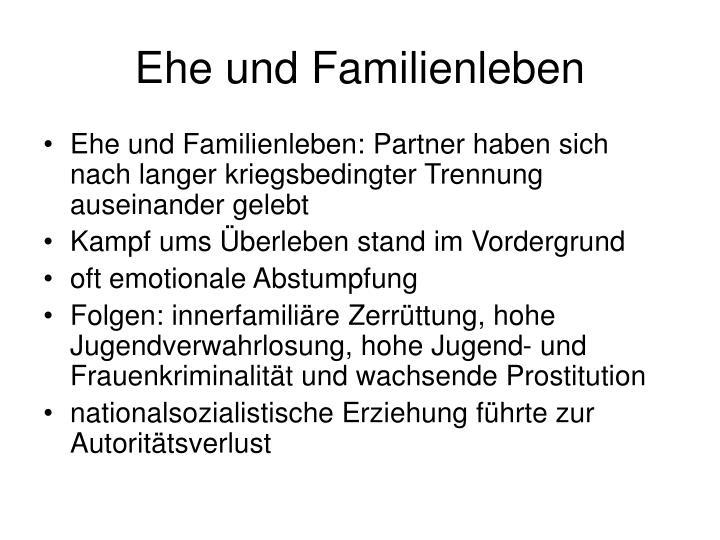 Ehe und Familienleben