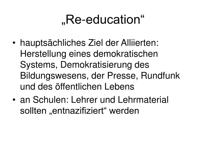 """Re-education"""