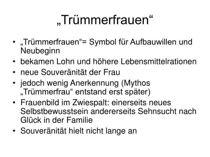 """""""Trümmerfrauen"""""""