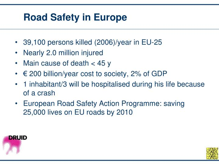 Road safety in europe