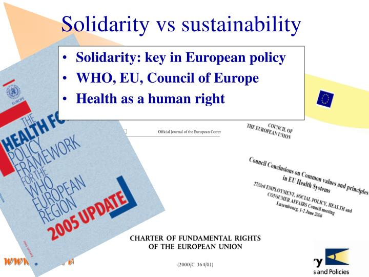 Solidarity vs sustainability