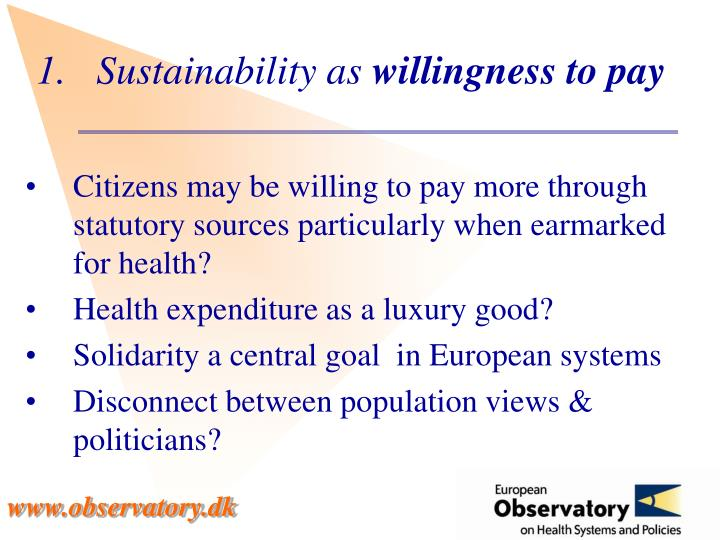 Sustainability as