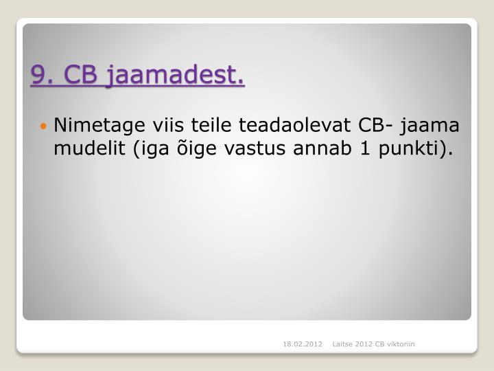 Nimetage viis teile teadaolevat CB- jaama mudelit (iga õige vastus annab 1 punkti).