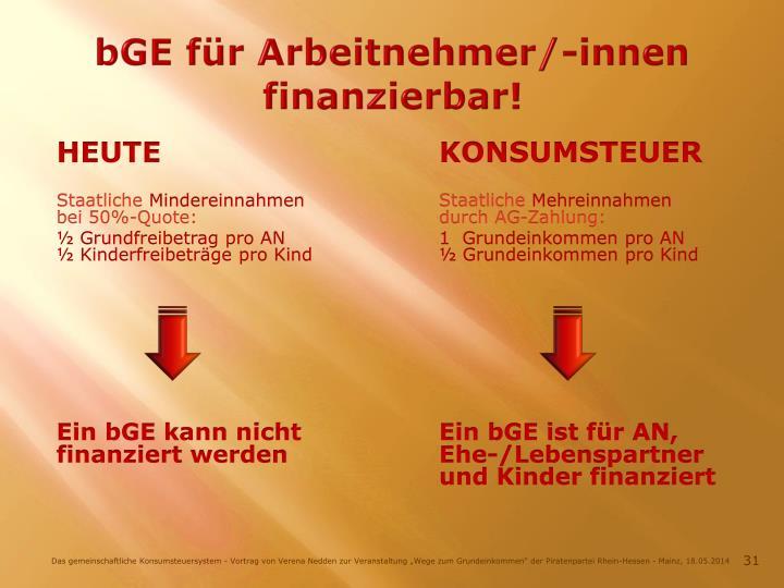 bGE für Arbeitnehmer/-innen