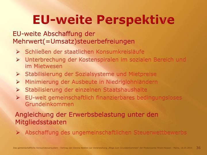 EU-weite Perspektive