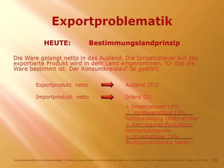 Exportproblematik