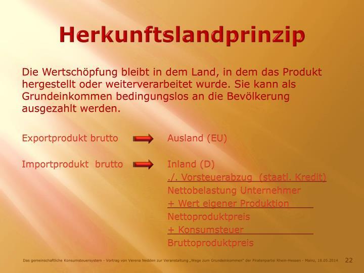 Herkunftslandprinzip