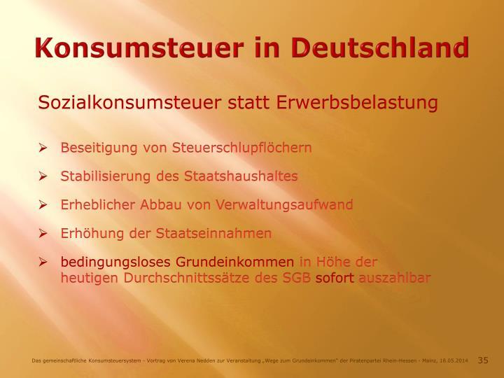 Konsumsteuer in Deutschland