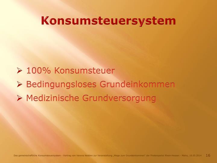 Konsumsteuersystem