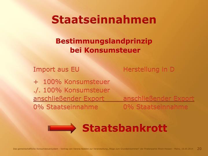Staatseinnahmen