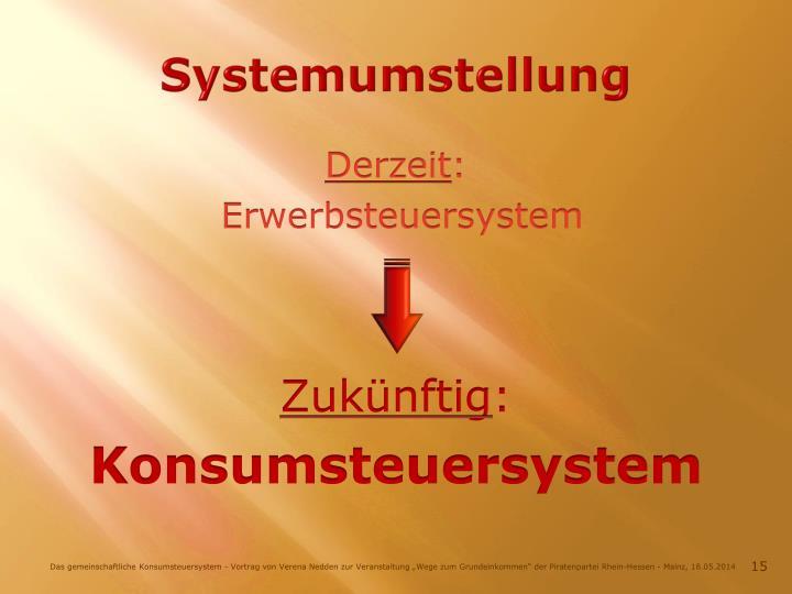Systemumstellung