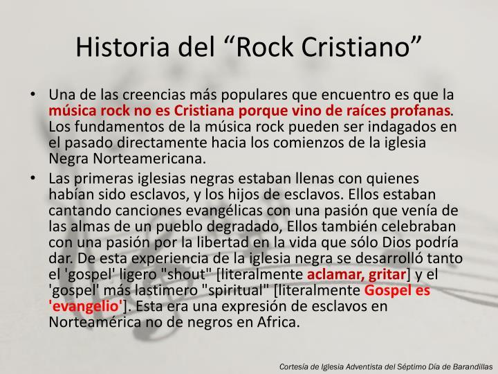 """Historia del """"Rock Cristiano"""""""