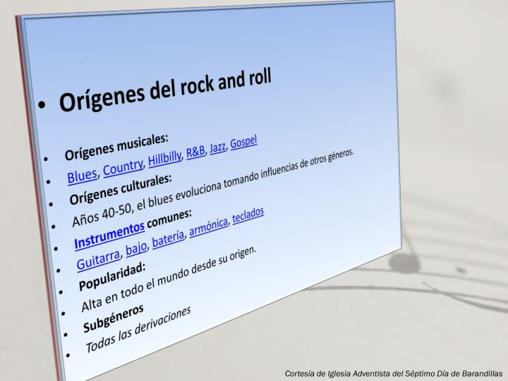 Orígenes del rock and roll