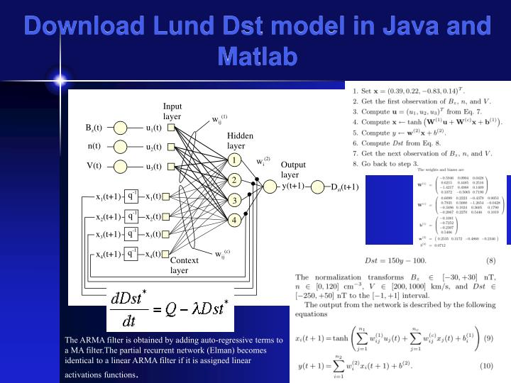 Download Lund Dst model in Java and Matlab