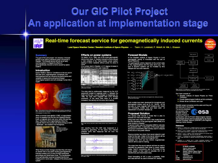 Our GIC Pilot Project