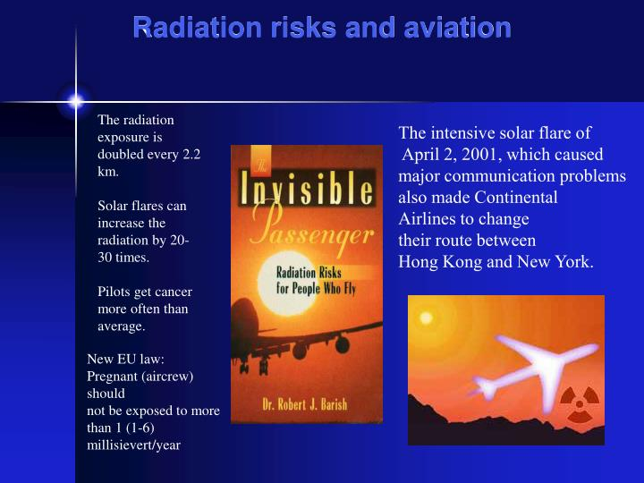 Radiation risks and aviation