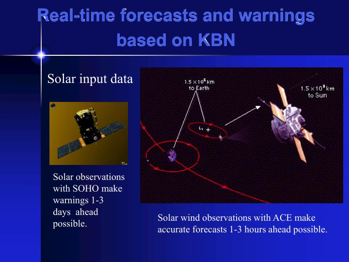 Real-time forecasts and warnings based on KBN