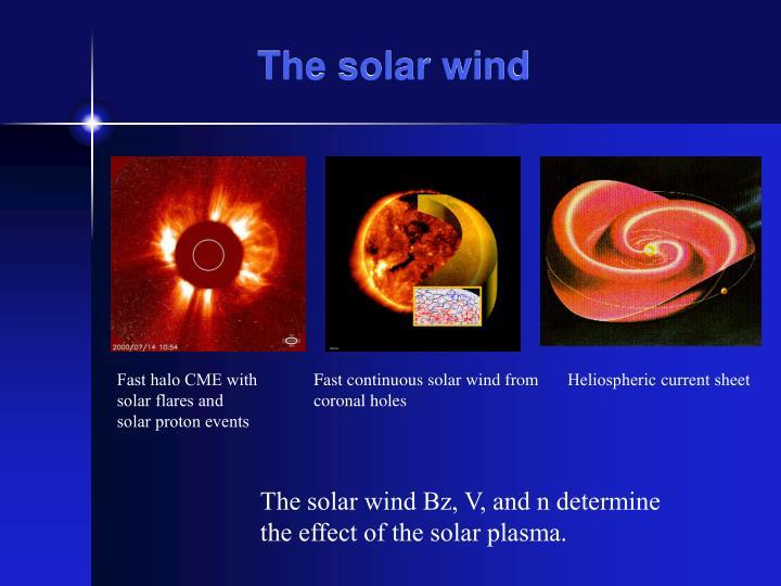 The solar wind