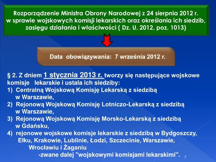 Rozporzdzenie Ministra Obrony Narodowej z 24 sierpnia 2012 r.