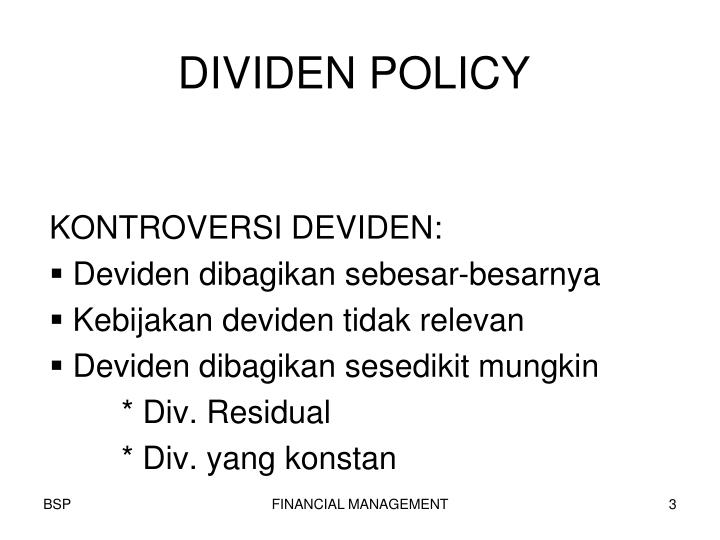 Dividen policy1