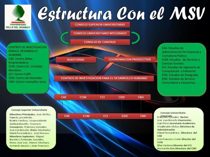 Estructura Con el MSV