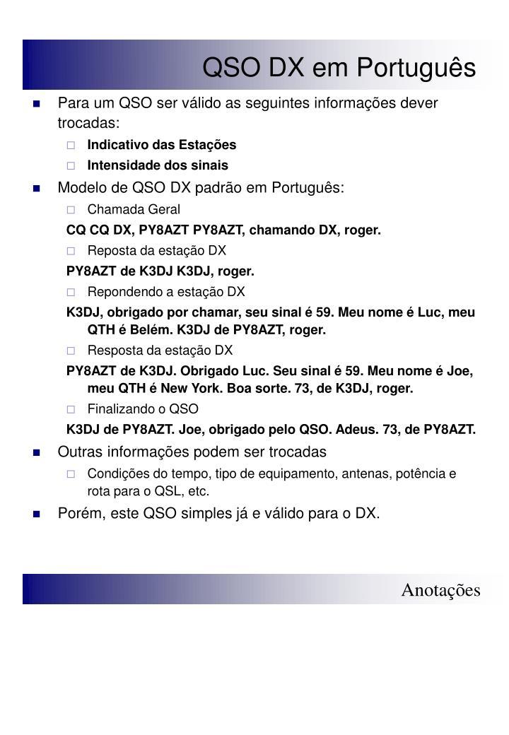 QSO DX em Português