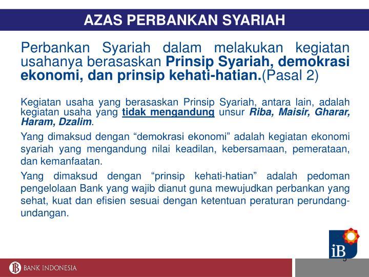 AZAS PERBANKAN SYARIAH