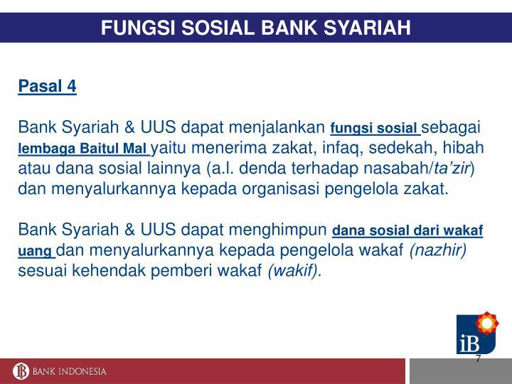 FUNGSI SOSIAL BANK SYARIAH