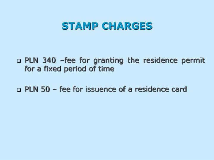 STAMP CHARGES