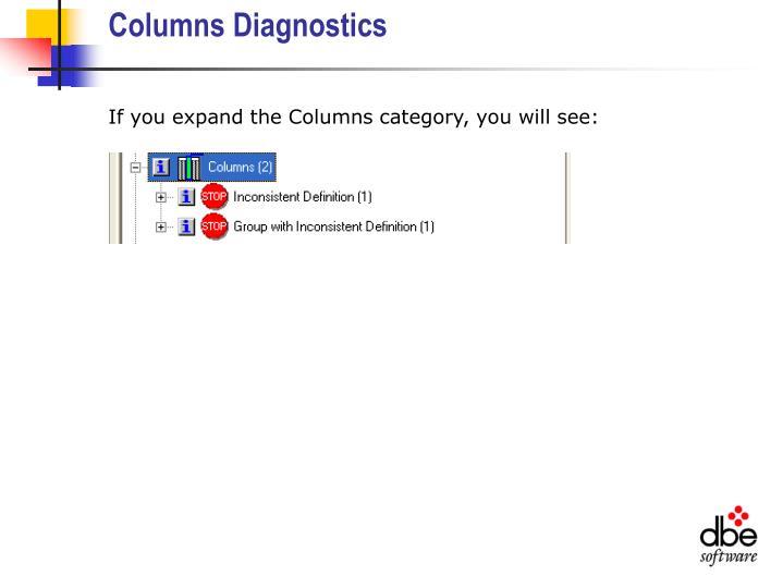 Columns Diagnostics