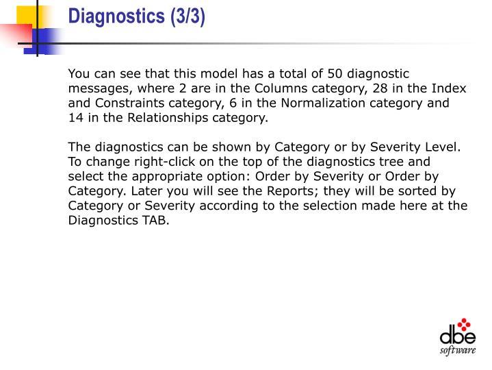 Diagnostics (3/3)