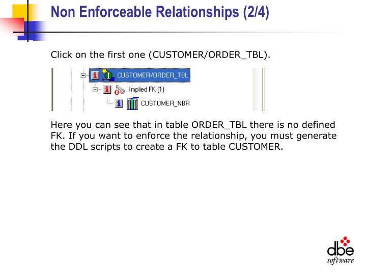 Non Enforceable Relationships (2/4)