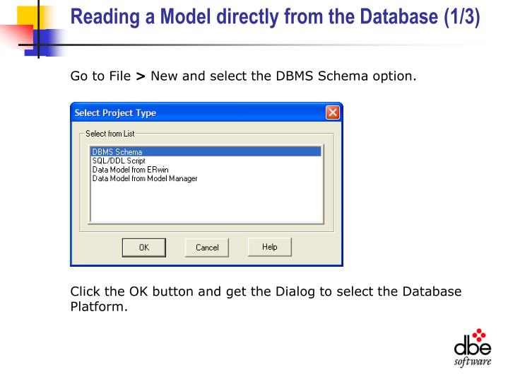 Reading a Model directly from the Database (1/3)