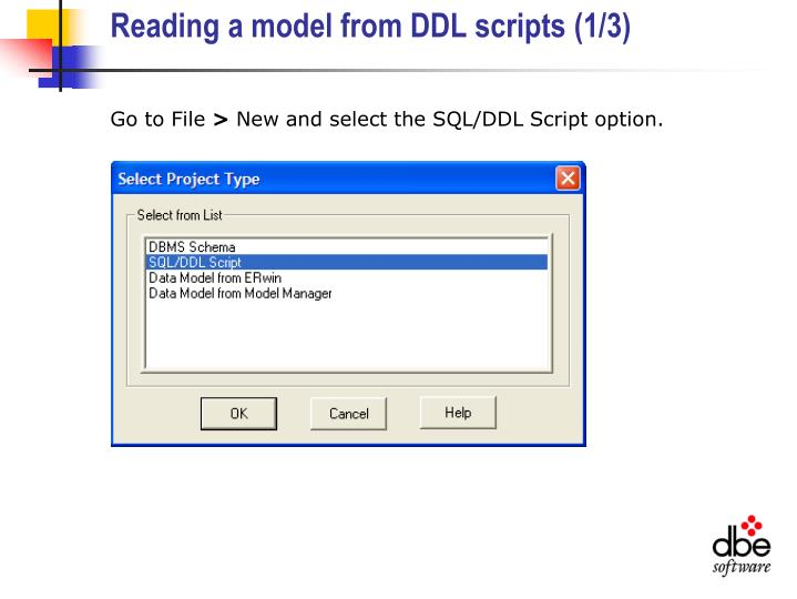 Reading a model from DDL scripts (1/3)