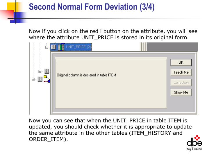 Second Normal Form Deviation (3/4)