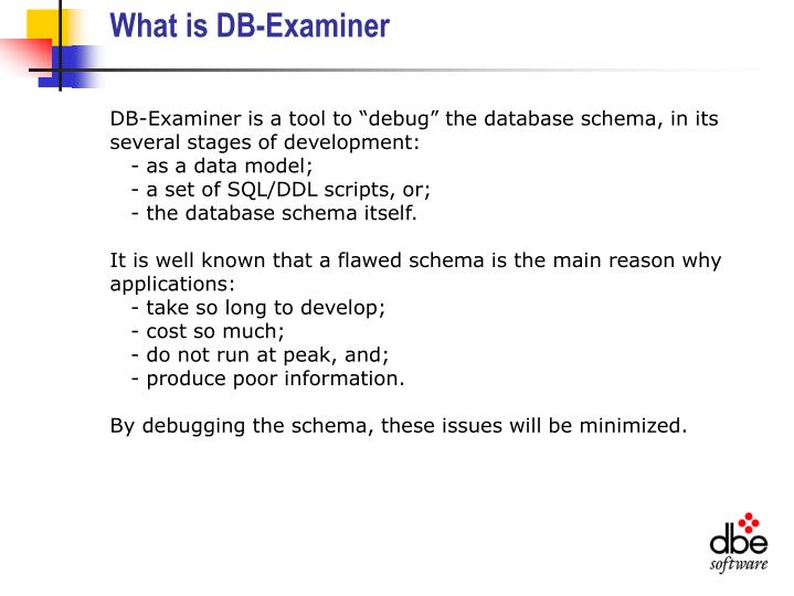 What is db examiner